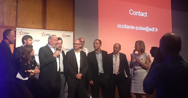 Remise des prix par Gilles Capy au concours EDF Pulse en Occitanie