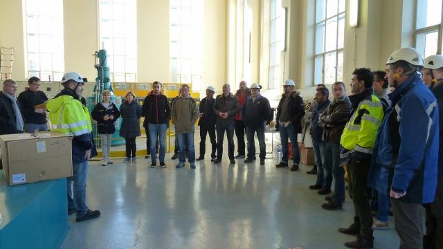 Participants à la visite de la centrale EDF de Soeix