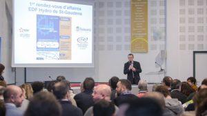 Introduction par Christian Caussidéry du 1er rendez-vous d'affaires en Comminges