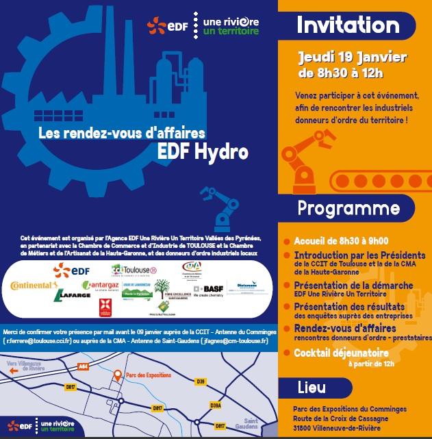 Invitation au 1er rendez-vous d'affaires EDF en Comminges