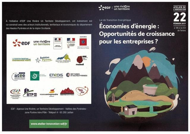 le programme de l'atelier de transition énergétique EDF à Tarbes