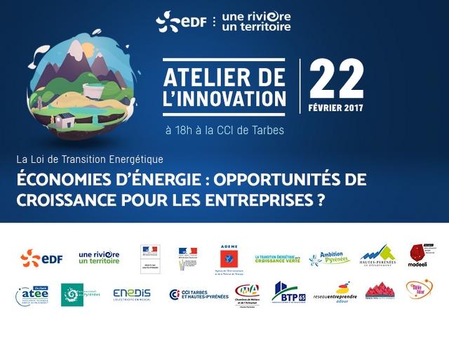 les partenaires de l'atelier de l'innovation EDF à Tarbes