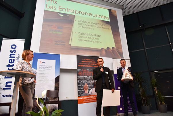 remise des prix du concours les entrepreneuriales par Christian Caussidery