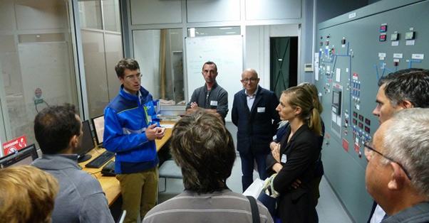 présentation par Timothée Ricordeau du fonctionnement de la centrale EDF de Pragnères