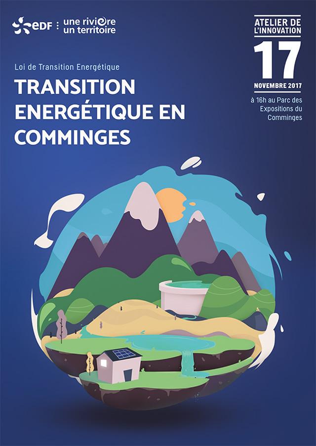 invitation atelier de l'innovation EDF sur la loi de transition énergétique en comminges