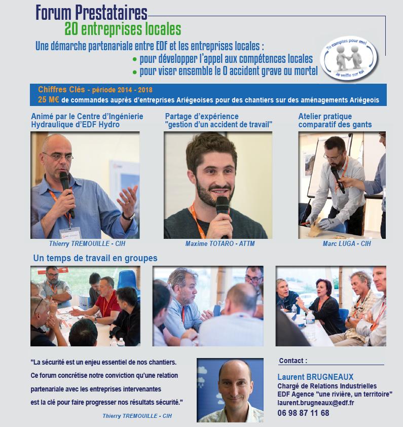 bilan du forum prestataires EDF en Ariège