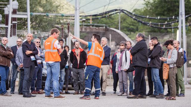 visite guidée du chantier EDF de Sabart