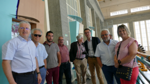participants à la visite de la centrale EDF de Pragnères