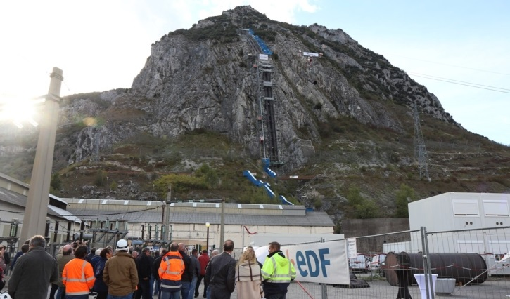 visite du chantier de la conduite-forcée de Sabart