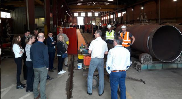 visite des ateliers de SAVCO à Saverdun