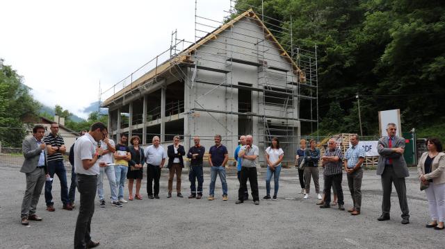 Point d'étape construction des locaux d'EDF Baralet