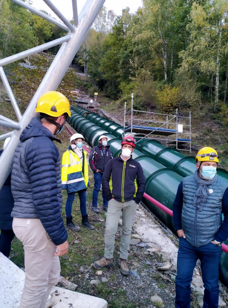 Visite chantier Conduite Forcée Centrale EDF Saint-lary