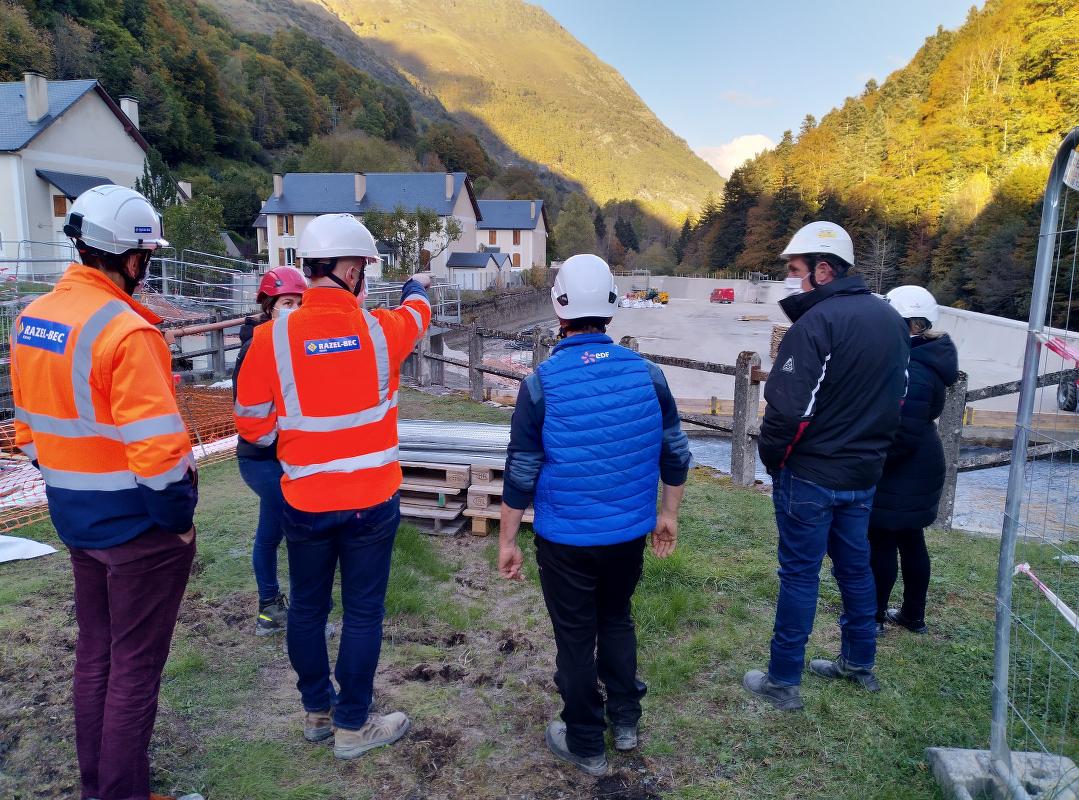 Visite du chantier du bassin d'Eget
