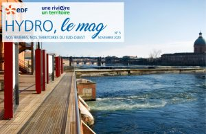 La Garonne vue de la centrale EDF du Bazacle